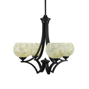 Cambridge 4-Light Shaded Chandelier by World Menagerie