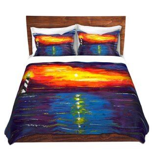 DiaNoche Designs Sunset at Lighthouse Duvet Cover Set