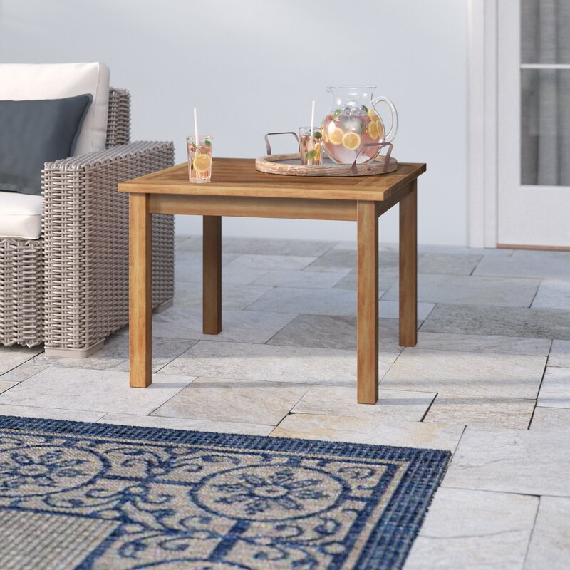 Wooden Patio Side Table