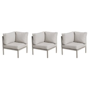 TK Classics Carlisle Patio Chair with Cushion (Set of 3)