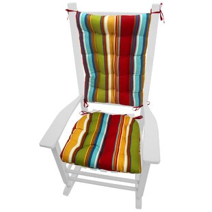Coastal Indoor/Outdoor Rocking Chair Cushion