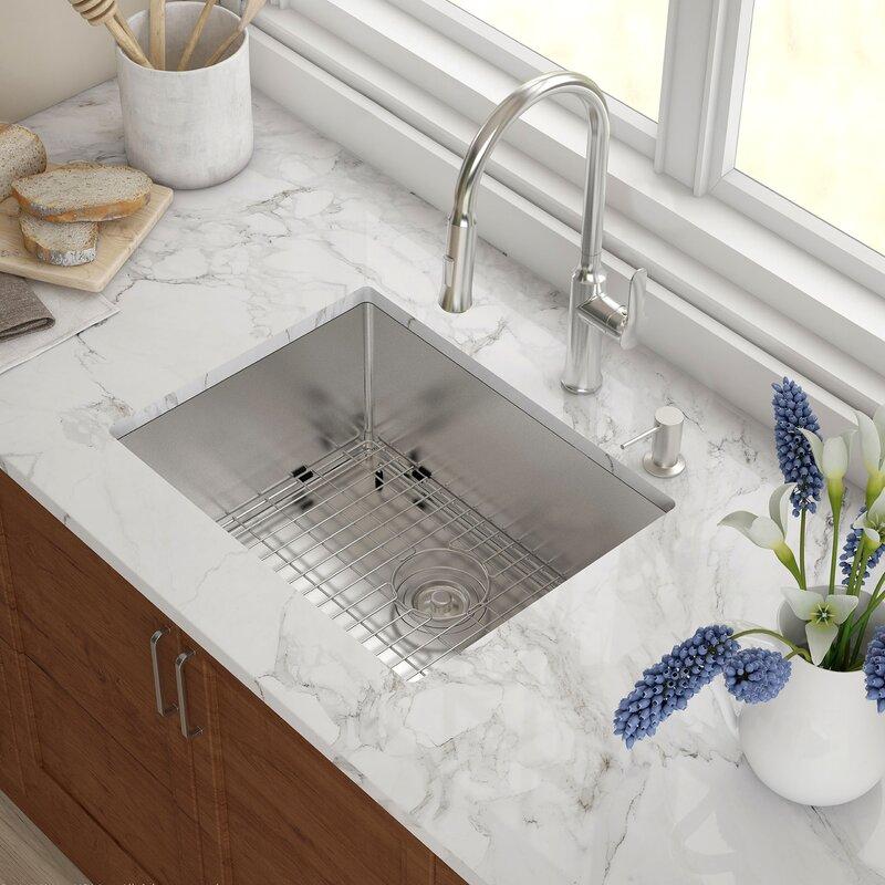 emmaus 23   x 18   undermount single bowl 16 gauge kitchen sink emmaus 23   x 18   undermount single bowl 16 gauge kitchen sink      rh   jossandmain com