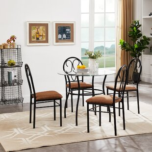 Riceboro 5 Piece Dining Set by Fleur De Lis Living