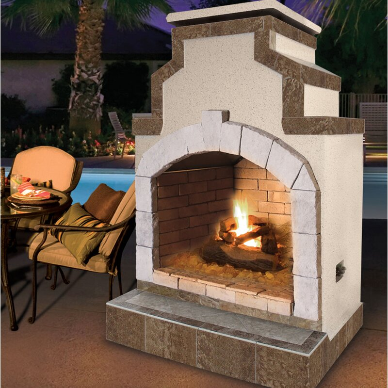 Cal Flame Propane Gas Outdoor Fireplace Wayfair