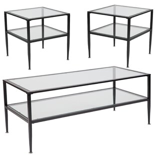 Natoli 3 Piece Coffee Table Set Ebern Designs