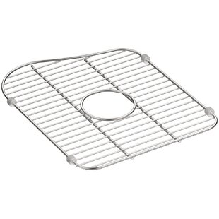 Kohler kitchen sink accessories youll love staccato stainless steel large sink rack for left hand bowl by kohler workwithnaturefo