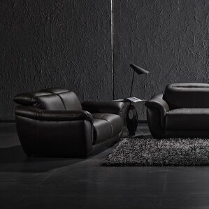 David Divani Designs Leather Loveseat Image