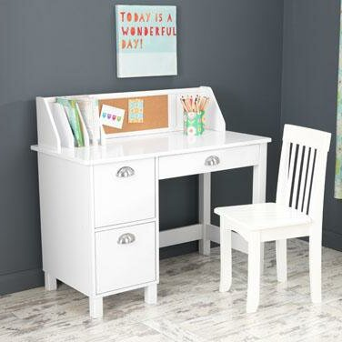 Charmant Desk With Hutch White Kids Desks Youu0027ll Love In 2019 | Wayfair