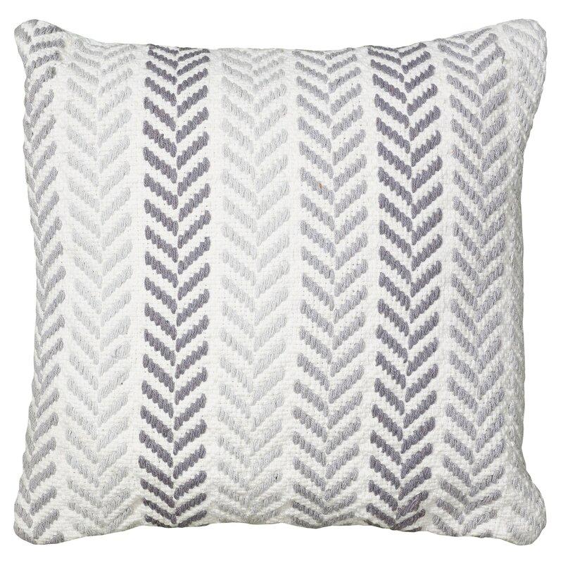 Mercury Row Chevron 100 Cotton Throw Pillow Amp Reviews