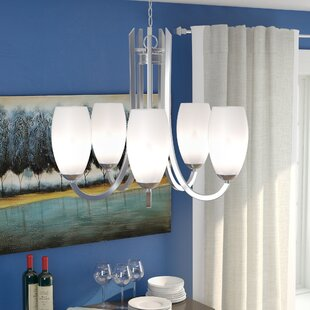 Budget Caves 5-Light Shaded Chandelier By Latitude Run
