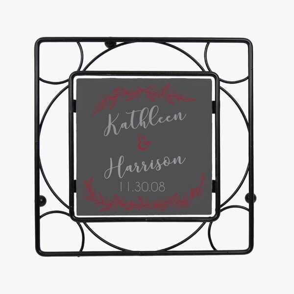 Personalized Couples Iron Trivet