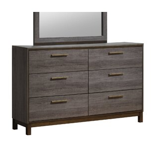 Major 6 Drawer Double Dresser