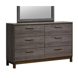 Major 6 Drawer Double Dresser