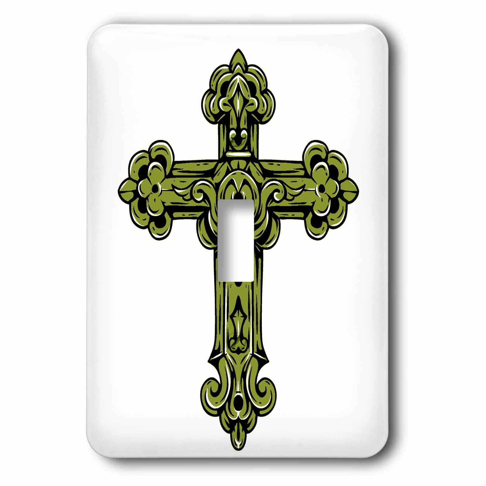 3drose Religious Cross 1 Gang Toggle Light Switch Wall Plate Wayfair