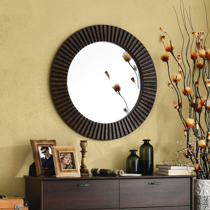 Classy 30+ Circle Wall Mirrors Design Inspiration Of Metal Framed ...