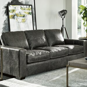Dansville Three Seat Full Top Grain Leather Sofa : full grain leather sectionals - Sectionals, Sofas & Couches
