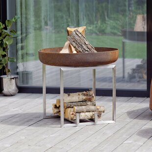 Quebec Stainless Steel Charcoal/Wood Burning Fire Pit Image