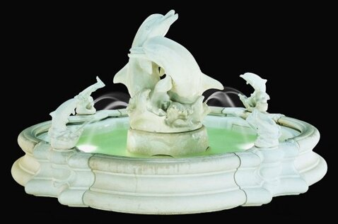 Pooled Concrete Grande Millennia Dolphin Fountain