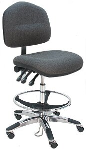 Ergonomic Cleanroom Lab Swivel Drafting Chair
