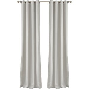 Levron Essex Solid Room Darkening Grommet Single Curtain Panel