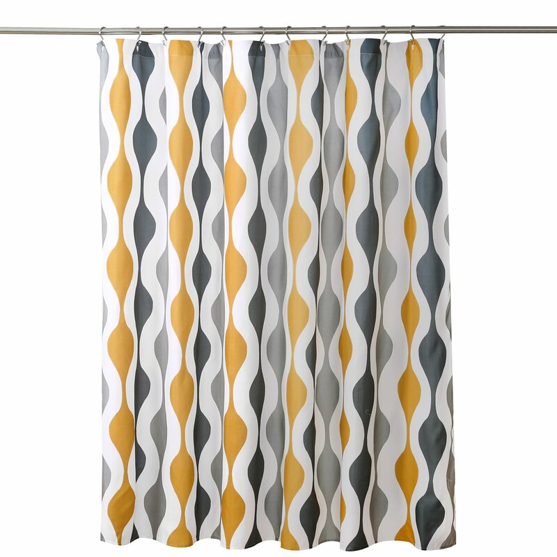 George Oliver Sherburne Geometric Single Shower Curtain Reviews Wayfair