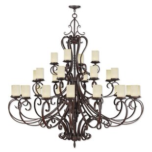 Fleur De Lis Living Bressler 28-Light Shaded Chandelier