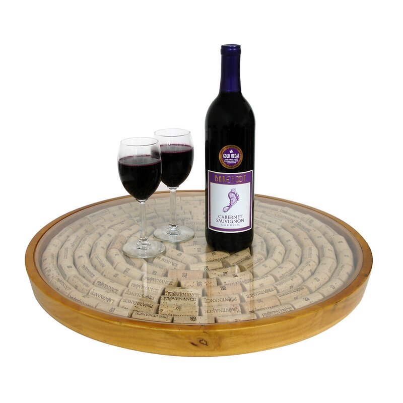 Epicureanist Lazy Susan Cork Display Kit Wayfair