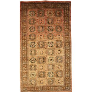 Curtis Hand Knotted Wool Brown Rug by World Menagerie