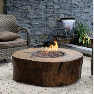 Burning Stump Stone Propane Fire Pit Table