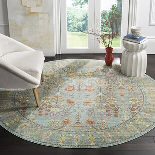 Privette Stone Blue/Gray/Beige Area Rug by Bungalow Rose