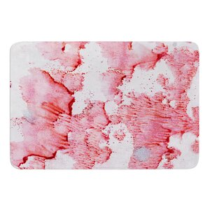 Soft Pink Splashes by Iris Lehnhardt Bath Mat