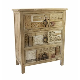 Holeman Artistic Relief 3 Drawer Accent Chest by Highland Dunes