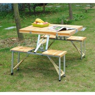 Convertible picnic table bench wayfair baum picnic table watchthetrailerfo