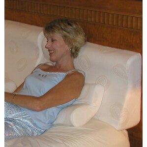 Supple-Pedic Sit-Up Headboard Foam Pillow by Strobel Mattress