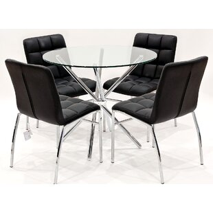 Burnham-on-Crouch Circular Dining Set With 4 Chairs By Metro Lane