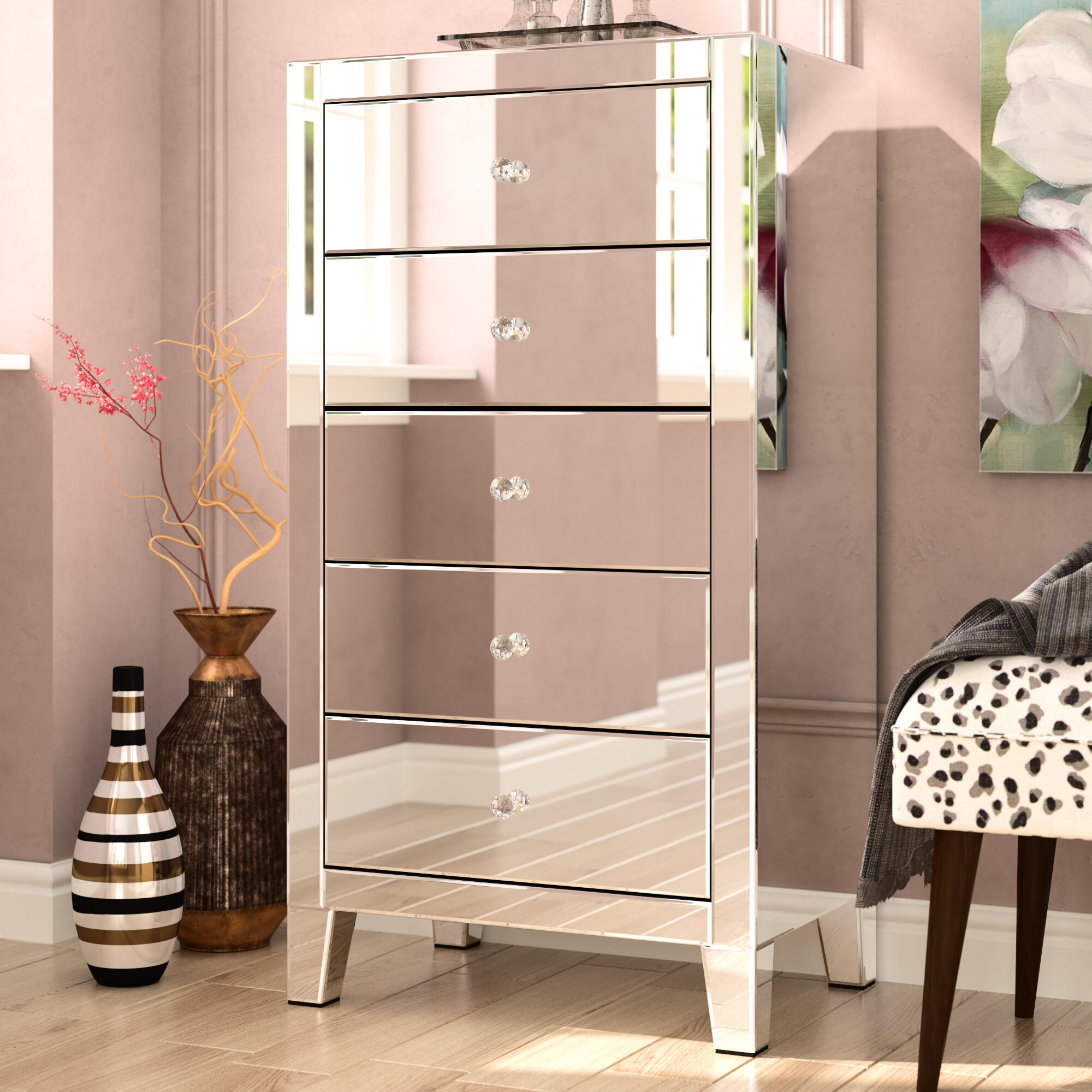 Wayfair Mirrored Tall Dressers Chests You Ll Love In 2021