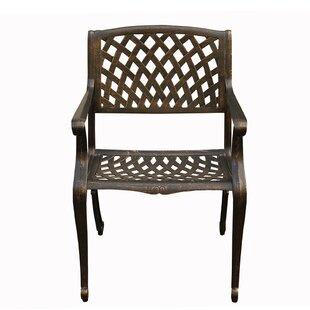 Casanova Mesh Lattice Patio Dining Chair by Fleur De Lis Living