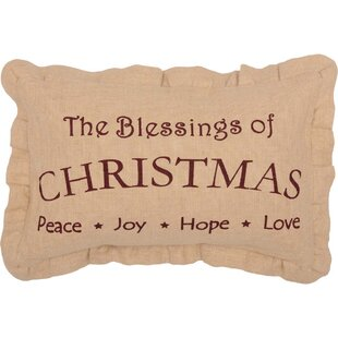 Alongi Christmas Blessings Lumbar Pillow