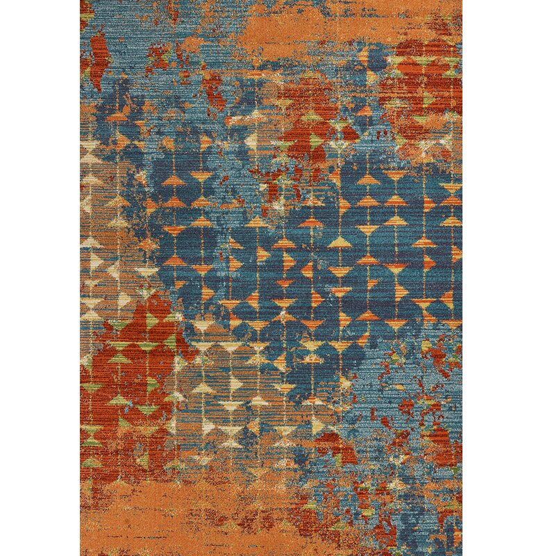 Allmodern Korth Abstract Orange Area Rug Reviews Wayfair