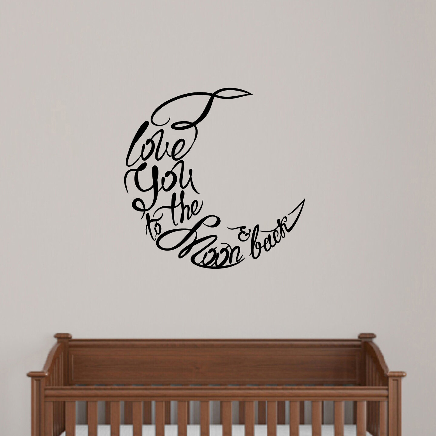 Sweetumswalldecals I Love You To The Moon And Back Wall Decal Wayfair Ca