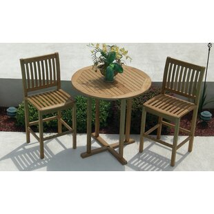 Laury 3-Piece Teak Bar Set
