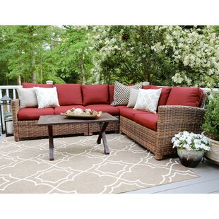 SE Brands Dalton 5 Piece Sectional Set with Cushions