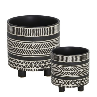 Kiana 2 Piece Ceramic Pot Planter Set