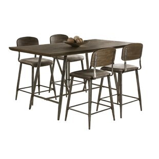 17 Stories Georgia 5 Piece Counter Height Dining Set