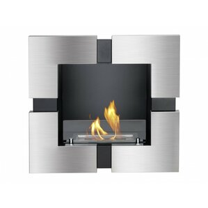 Tokyo Recessed Ventless Wall Mount Ethanol Fireplace by Ignis Products
