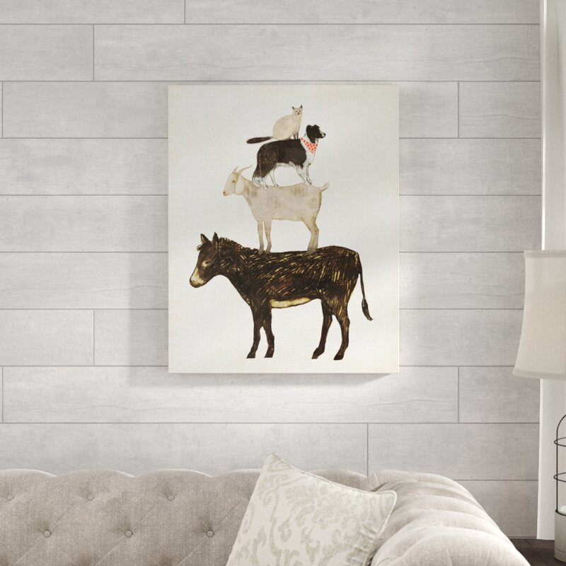 Gracie Oaks Donkey Goat Dog And Cat Barnyard Friends