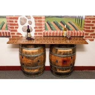 Double Half Barrel Pub Table by Napa East Collection