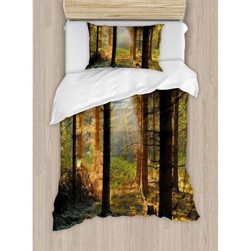 East Urban Home Forest Duvet Cover Set Wayfair