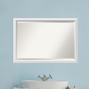 Susanne Rectangle White Bathroom Mirror