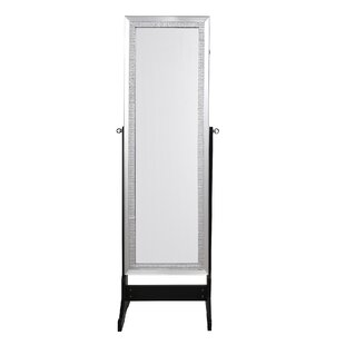 Inspired Home Co. Pizzazz Full Length Jewelry Armoire with Mirror